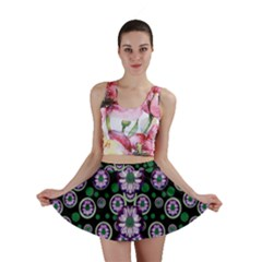 Fantasy Flower Forest  In Peacock Jungle Wood Mini Skirt by pepitasart