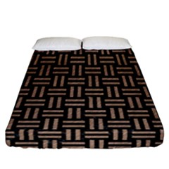 Woven1 Black Marble & Brown Colored Pencil Fitted Sheet (california King Size) by trendistuff