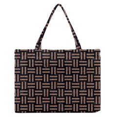 Woven1 Black Marble & Brown Colored Pencil Medium Zipper Tote Bag by trendistuff