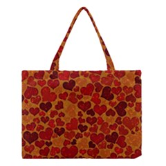 Sparkling Hearts,deep Red Medium Tote Bag by MoreColorsinLife