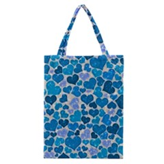Sparkling Hearts, Teal Classic Tote Bag by MoreColorsinLife
