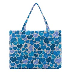 Sparkling Hearts, Teal Medium Tote Bag by MoreColorsinLife