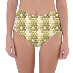 Cleopatras Gold Reversible High Waist Bikini Bottoms