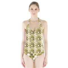 Cleopatras Gold Halter Swimsuit by psweetsdesign