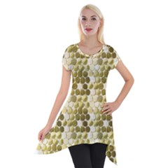Cleopatras Gold Short Sleeve Side Drop Tunic