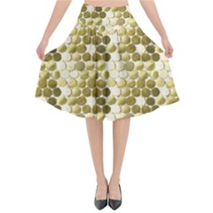 Cleopatras Gold Flared Midi Skirt by psweetsdesign
