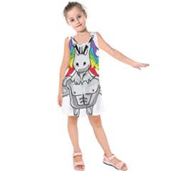 Angry Unicorn Kids  Sleeveless Dress