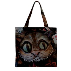 Cheshire Cat Zipper Grocery Tote Bag by KAllan