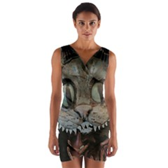 Cheshire Cat Wrap Front Bodycon Dress by KAllan