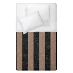 Stripes1 Black Marble & Brown Colored Pencil Duvet Cover (single Size) by trendistuff