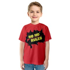 No Mo Rules Kids  Sport Mesh Tee by NoctemClothing