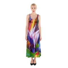 Palms02 Sleeveless Maxi Dress by psweetsdesign