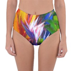 Palms02 Reversible High Waist Bikini Bottoms