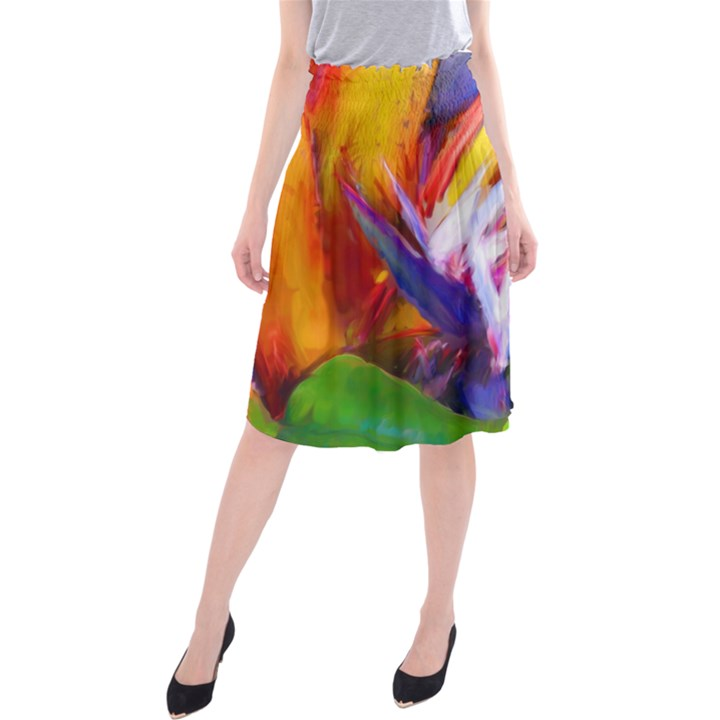 Palms02 Midi Beach Skirt
