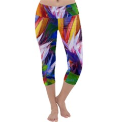 Palms02 Capri Yoga Leggings by psweetsdesign