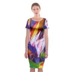 Palms02 Classic Short Sleeve Midi Dress by psweetsdesign