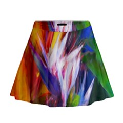 Palms02 Mini Flare Skirt by psweetsdesign