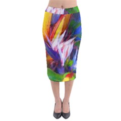 Palms02 Midi Pencil Skirt