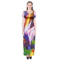 Palms02 Short Sleeve Maxi Dress by psweetsdesign