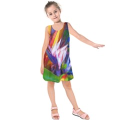 Palms02 Kids  Sleeveless Dress by psweetsdesign