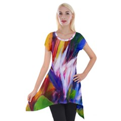 Palms02 Short Sleeve Side Drop Tunic