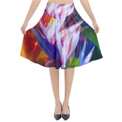 Palms02 Flared Midi Skirt by psweetsdesign