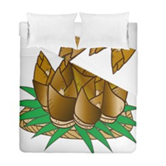 Young Bamboo Duvet Cover Double Side (full/ Double Size) by Mariart