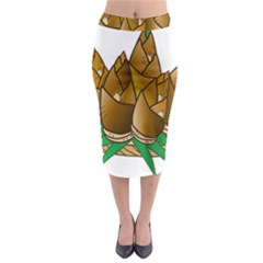 Young Bamboo Midi Pencil Skirt by Mariart