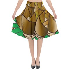 Young Bamboo Flared Midi Skirt by Mariart