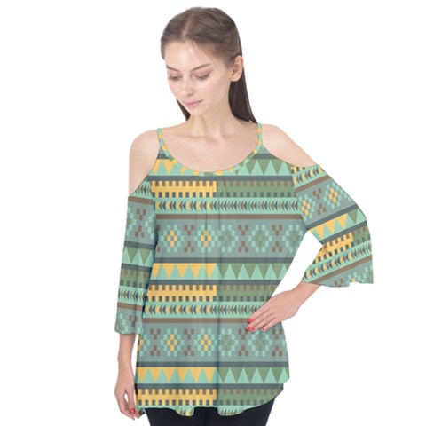 Bezold Effect Traditional Medium Dimensional Symmetrical Different Similar Shapes Triangle Green Yel Flutter Tees by Mariart