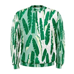 Banana Leaf Green Polka Dots Men s Sweatshirt by Mariart