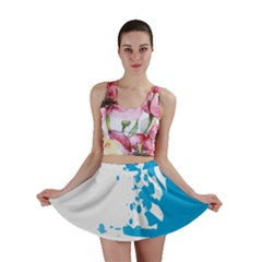Blue Stain Spot Paint Mini Skirt by Mariart