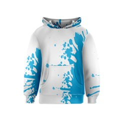 Blue Stain Spot Paint Kids  Pullover Hoodie by Mariart