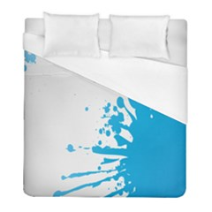 Blue Stain Spot Paint Duvet Cover (full/ Double Size) by Mariart