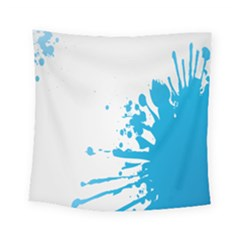 Blue Stain Spot Paint Square Tapestry (small) by Mariart