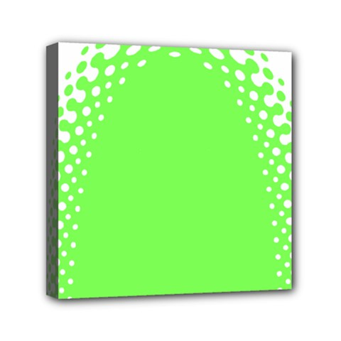 Bubble Polka Circle Green Mini Canvas 6  X 6  by Mariart