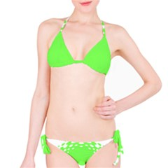 Bubble Polka Circle Green Bikini Set by Mariart