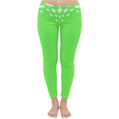 Bubble Polka Circle Green Classic Winter Leggings by Mariart