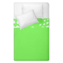 Bubble Polka Circle Green Duvet Cover Double Side (single Size)