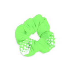 Bubble Polka Circle Green Velvet Scrunchie by Mariart