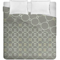Circles Grey Polka Duvet Cover Double Side (king Size) by Mariart