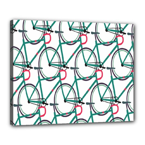 Bicycle Cycling Bike Green Sport Canvas 20  X 16  by Mariart