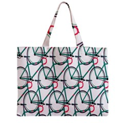Bicycle Cycling Bike Green Sport Medium Tote Bag by Mariart