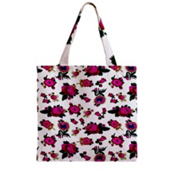 Crown Red Flower Floral Calm Rose Sunflower White Grocery Tote Bag by Mariart