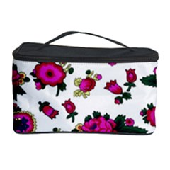 Crown Red Flower Floral Calm Rose Sunflower White Cosmetic Storage Case by Mariart