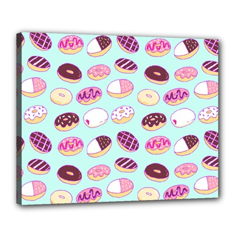 Donut Jelly Bread Sweet Canvas 20  X 16