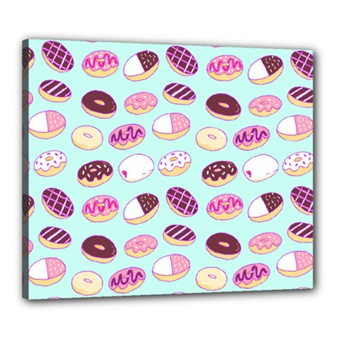 Donut Jelly Bread Sweet Canvas 24  X 20  by Mariart