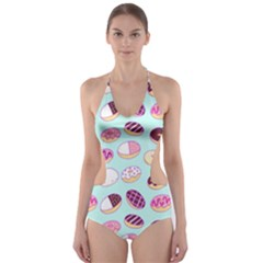 Donut Jelly Bread Sweet Cut Out One Piece Swimsuit