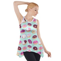 Donut Jelly Bread Sweet Side Drop Tank Tunic by Mariart