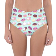 Donut Jelly Bread Sweet Reversible High Waist Bikini Bottoms by Mariart